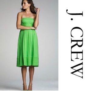 [J. CREW] Silk Chiffon Strapless Bridesmaid Dress